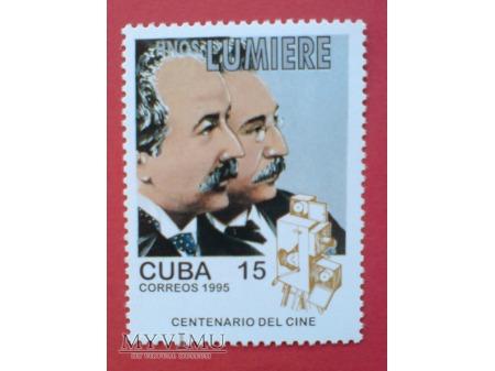 Duże zdjęcie Cuba Centenario del Cine 1995 Znaczki Kino Film