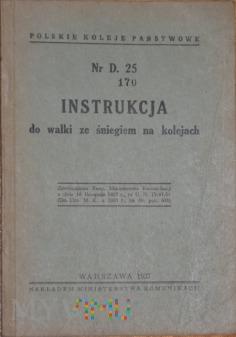 1937 - Nr D. 25 Instrukcja do walki ze śniegiem