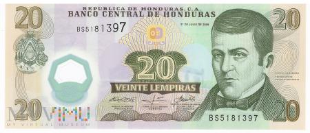Honduras - 20 lempir (2008)