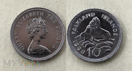 Falklandy, 10 Pence 1998