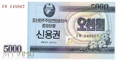 Korea Północna - 5 000 wonów (2003)