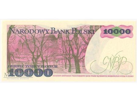 10000 złotych 1987 rok seria U