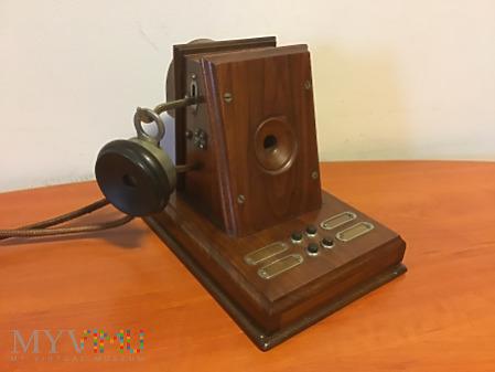 Duże zdjęcie belgijski (ATEA) biurkowy domofon z około 1914 r