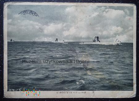 U. Boote in Kiellinie