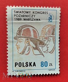 Duże zdjęcie Kongres Pożarniczy - znaczek 1989