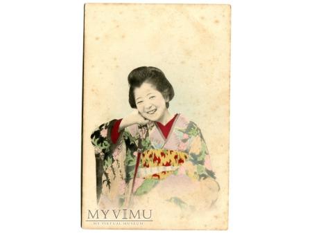 Duże zdjęcie Japonia Japonka Japoneczka w Kimono c. 1900