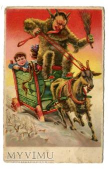 Diabeł i szalony zaprzęg, kozioł i dzieci c. 1930