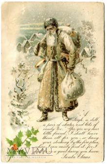 Święty Mikołaj z USA Grey Robe Santa Claus