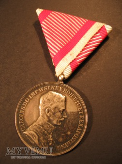TAPFERKEITSMEDAILLE - Silberne 1.Klasse - Karol I