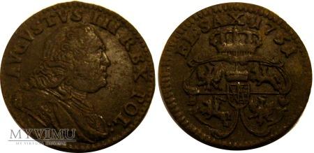 Duże zdjęcie Szeląg 1751 August III SAS