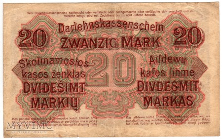 04.04.1918 - 20 Marek - Kowno