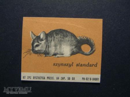 Etykieta - Szynszyl standard