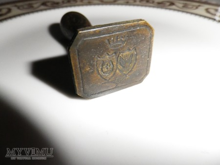Herb Jastrzębiec - pieczęć małżeńska