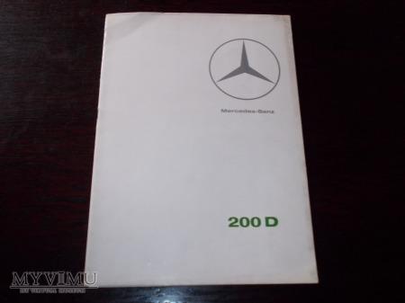 Prospekt MERCEDES 200D (W110)