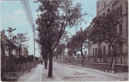 Wągrowiec - ulica Margonińska i sąd