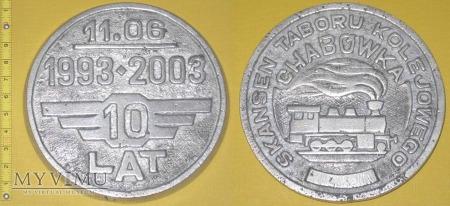 Medal kolejowy - usługowy Skansenu Tab. Chabówka