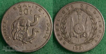 Dżibuti, 50 Francs 1991