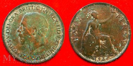 Wielka Brytania, half penny 1936