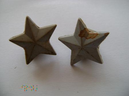 gwiazdki włoskie z pagonu plastikowe