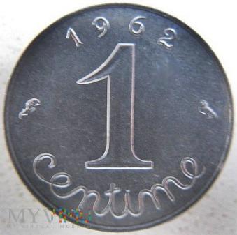 Duże zdjęcie 1 centym 1962 r. Francja