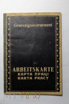 Arbeitskarte Generalgouvernement - karta pracy