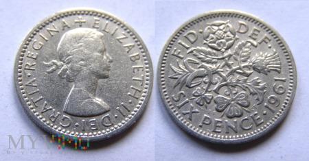 Wielka Brytania, SIX PENCE 1961