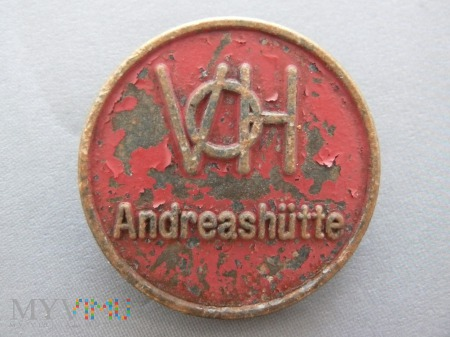 Znaczek Andreashutte Zawadzkie