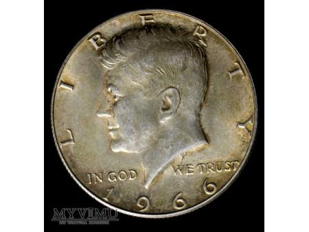 poldolarowka Kennedy 1966